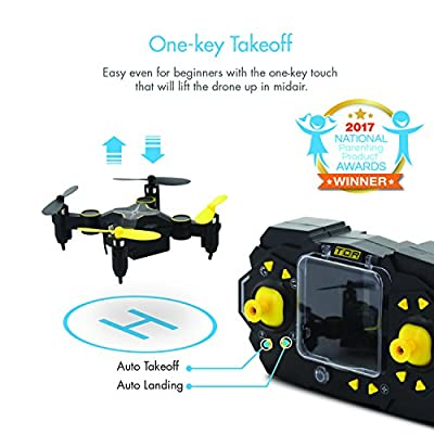 Tenergy TDR Sky Beetle Mini RC Drone with Camera Live Video, 2.4GHz FPV WiFi App Controlled Quadcopter Drone with Docking Transmitter, Auto Hovering, One-key Stunt Moves by Tenergy