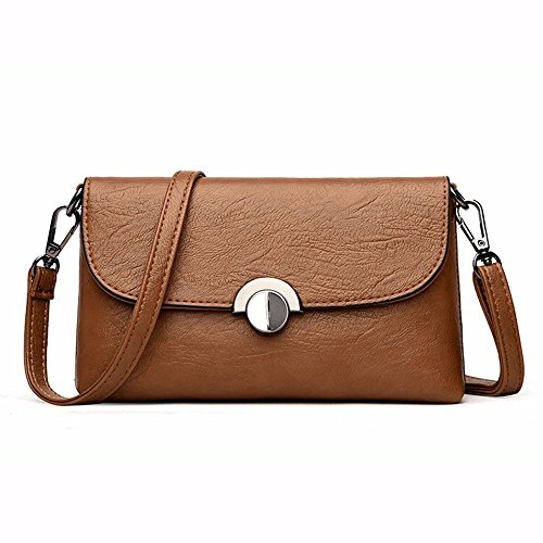 Mujer de CCZUIML para Bolso Moda Crossbody marrón Bolso Soft Rojo Bag Hombro Leather de xxRqwYr