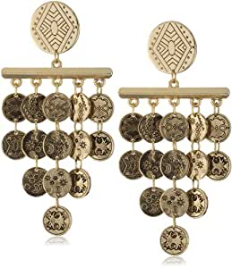 House of Harlow 1960 Gold-Plated Tiered Coin Earrings
