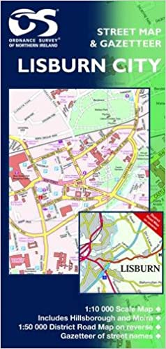 Street Map Of Ireland.Lisburn Street Map Northern Ireland O S Amazon Co Uk Unknown