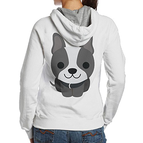 Nfuquyam Cute Boston Terrier Women's Creative Leisure And Comfort Zone Hat With No Pocket Hoodie XXL White (Boston College Cycling Jersey)