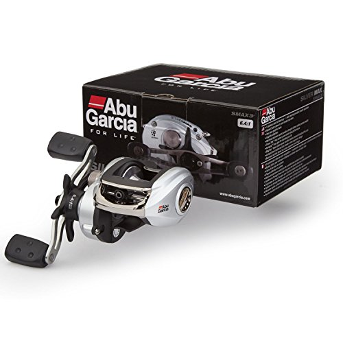 Abu Garcia SMAX3 Silver Max Low Profile Baitcast Fishing Reel (Right handed)