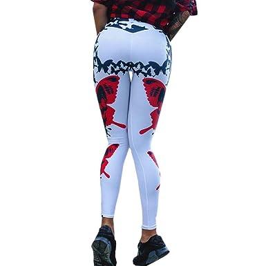 6d75254d50e05 Mujer Yoga Pantalones Fitness Leggings de Cintura Alta Running Gym ...