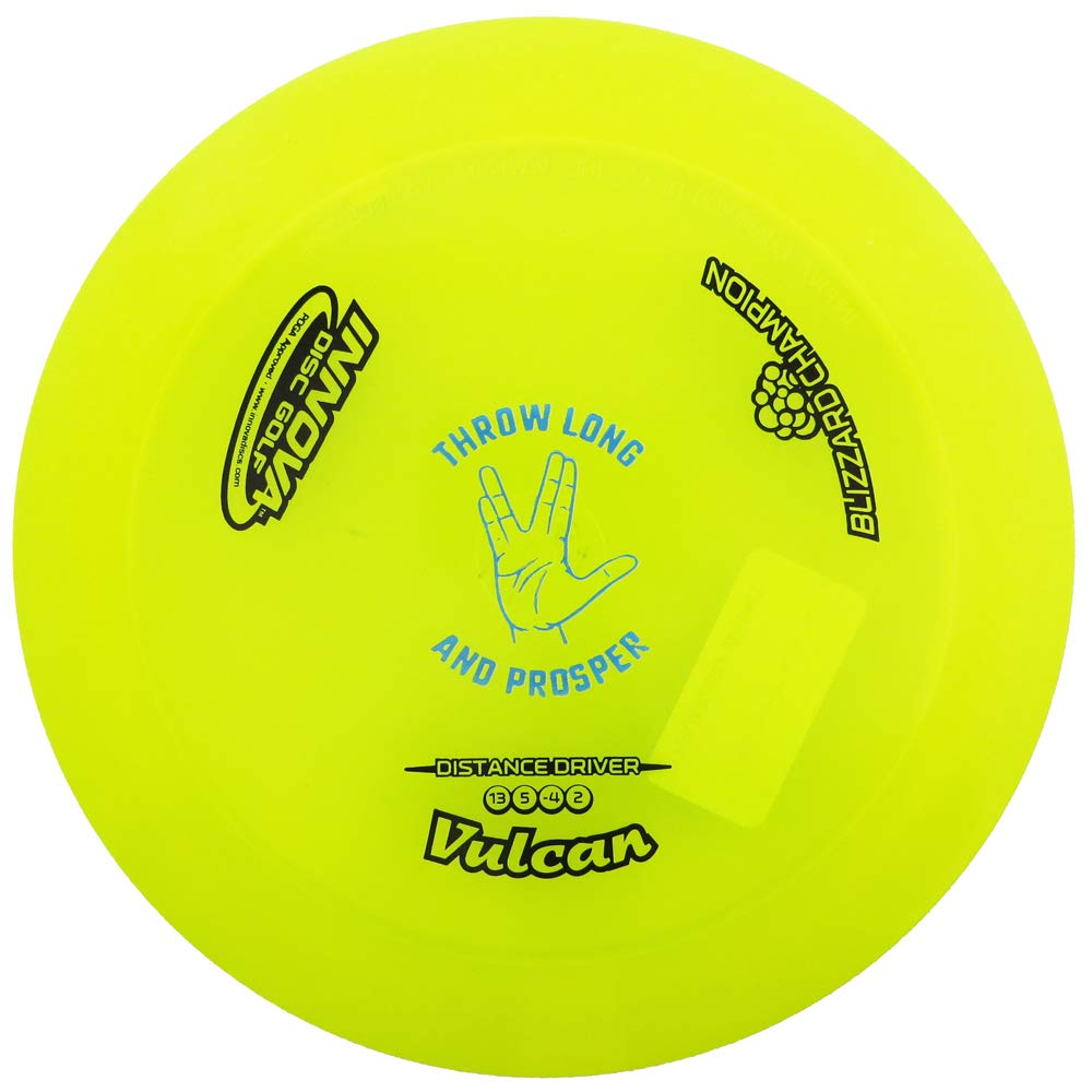 Innova Special Edition Throw Long and Prosper Blizzard Champion Vulcan Distance Driver Golf Disc [Colors May Vary] - 151-159g