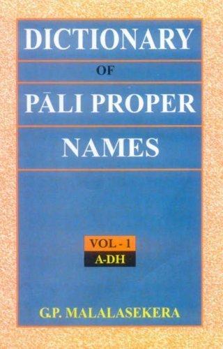 Malalasekera Pali Proper Names cover art