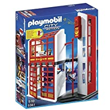 Playmobil Fire Station With Alarm Set