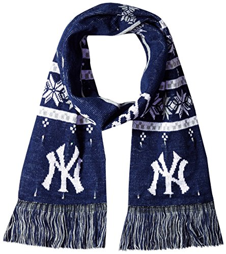MLB New York Yankees Light Up Scarf, One Size, Blue (New York Yankee Gifts)