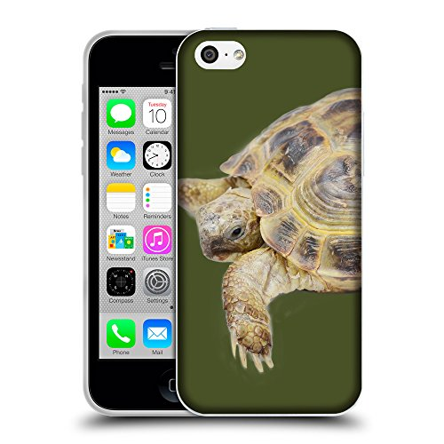 GoGoMobile Coque de Protection TPU Silicone Case pour // Q05550605 Tortue âgée Army Green // Apple iPhone 5C