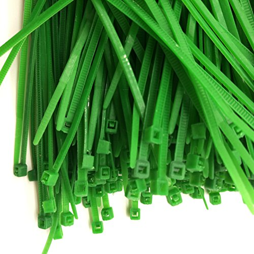 Cable Ties, 1000Pcs Durable Self-Locking Nylon Cable Zip Ties (4 Inch, - Dark Inch Green 4