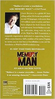Amazon.com: Memory Man (Amos Decker series) (9781455559800): David Baldacci: Books