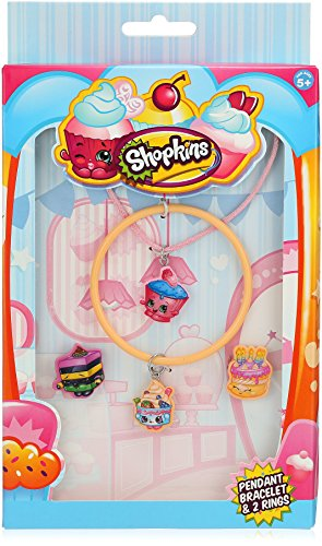 Ring Yochi (Shopkins Cutout Cupcake-Cord Yo-Chi Bangle Wishes and LeQu Jewelry Set)
