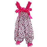 Baby Girls Pretty Ruffle Strap Rompers Newborn Infant One-Piece Lovely Jumpsuit(LHPL)