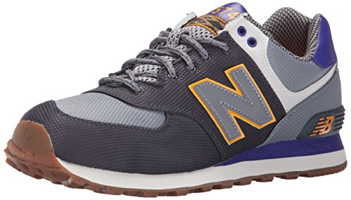 New Balance WL574VV1 - Zapatillas Hombre Gris - Grau (Dark Grey/Blue/Light Grey)