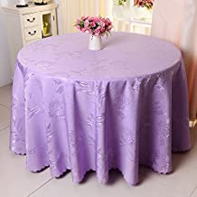 Svolite Round Polyester Tablecloth 70 inch (Violet)
