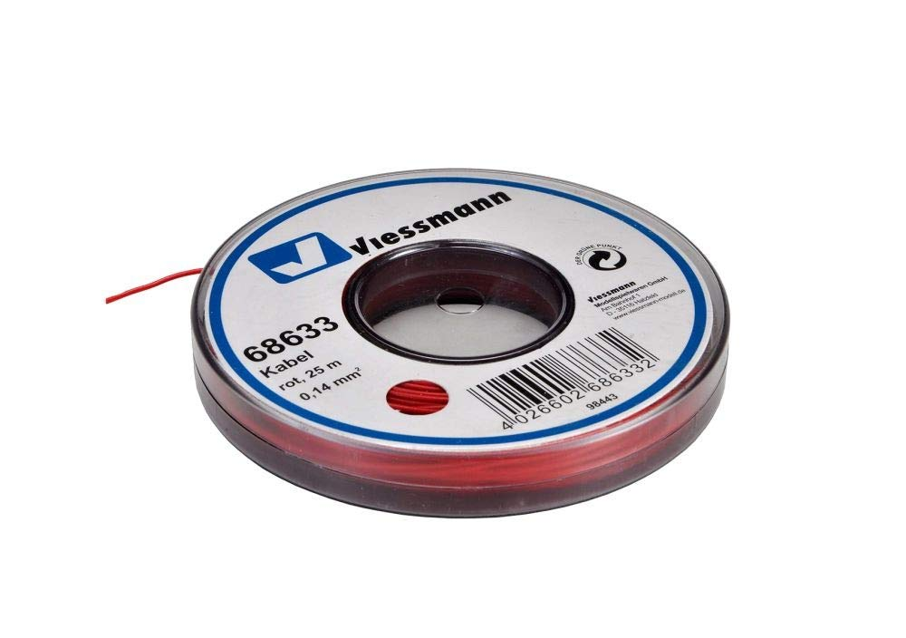 Viessmann 68633 Wire 25m Red
