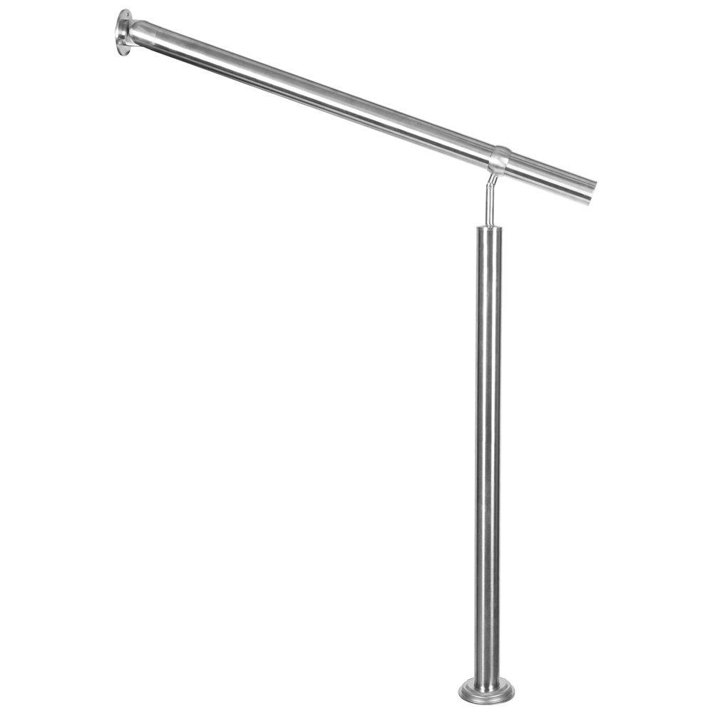 Edelstahl Treppengel/änder Handlauf Gel/änder Aufmontage 100 cm 1 m Treppe