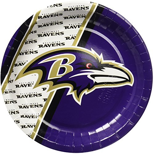 NFL Baltimore Ravens Disposable Paper Plate (20-Pack)