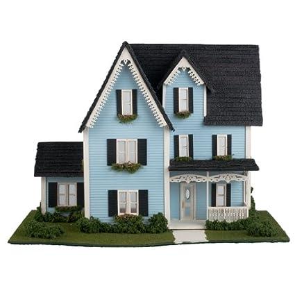 Amazon Com Dollhouse Miniature 1 48 Scale Victorian Dollhouse Kit