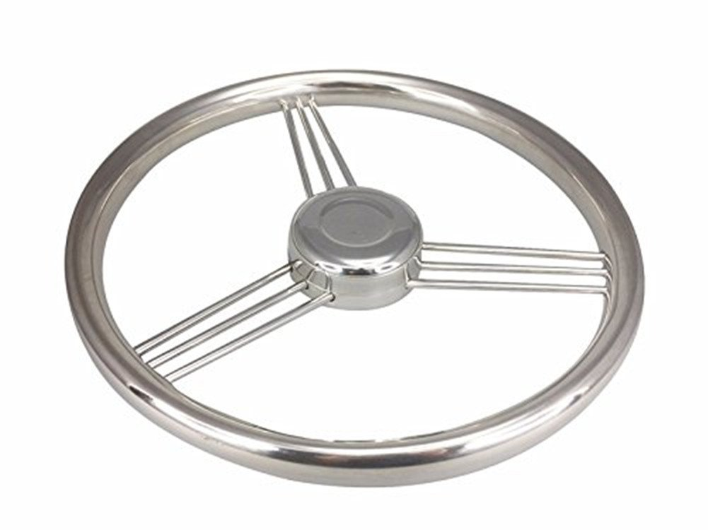 glorious_nx Stainless Steel Steering Wheel for Marine Boat 15 Degree with 13.5 inch 9 Spoke