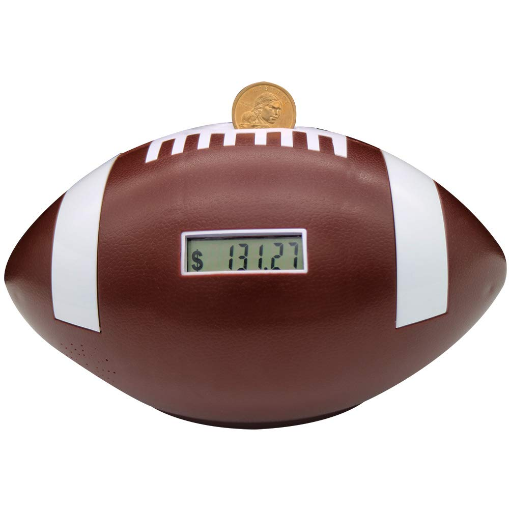 Flyingwoods Automatic Counting Football Coin Bank. Great Gift Works with All U.S Coins by Flyingwoods
