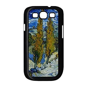 [Van Gogh Art Irises] Blue Sky from Vincent Van Gogh Case for Samsung Galaxy S3, Samsung Galaxy S3 Case {Black}