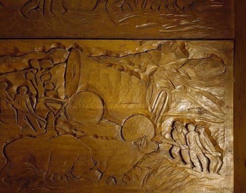HistoricalFindings Photo: Photo of Wood Panel,Timberline Lodge,Mount Hood,Oregon,OR,Carol Highsmith - Timberline Lodge Mount Hood Oregon