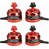 Toolcool 4X Racerstar Racing Edition 2205 BR2205 2300KV 2-4S Brushless Motor For QAV250 ZMR250 Quadcopter Multicopters (2 CW & 2 CCW )