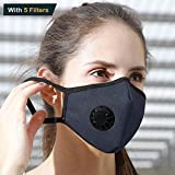 Best Construction Respirators - Pollution Mask, Reusable Dust Mask N99 +5 Filters Review