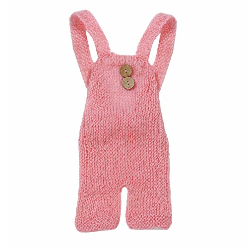 Newborn Baby Photography Mohair Overalls Props Boy Girl Photo Shoot Clothes For 0-6 Months -