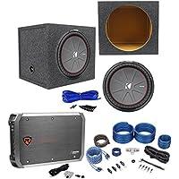 Kicker 43CWR152 COMPR15 15 1600W Subwoofer+Sealed Box+Mono Amplifier+Amp Kit