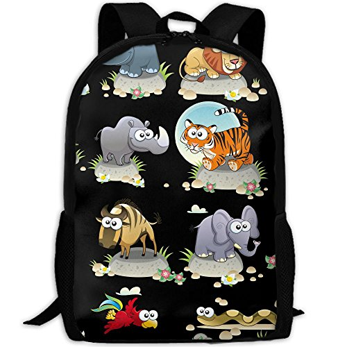 CY-STORE Hand-painted Cartoon Animals Outdoor Shoulders Bag Fabric Backpack Multipurpose Daypacks For Adult by CY-STORE