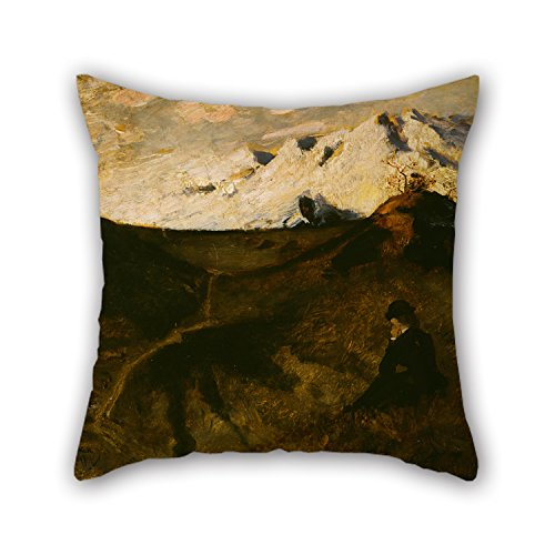 [Alphadecor Oil Painting Eilif Peterssen - Mountains Near Innsbruck Throw Cushion Covers 16 X 16 Inches / 40 By 40 Cm Gift Or Decor For Lounge,car Seat,husband,relatives,her,wedding - Double] (Diy Sushi Dog Costume)