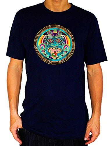 27011f485b ImZauberwald Men s Hofmann 2012 Psychedelic Lsd Maya Calendar Shirt X-Large  Deep Blue