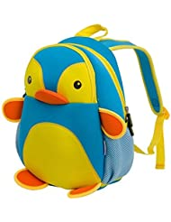 LYCSIX66 Kids Toddler Backpack 3D Zoo Animal Children School Bag for Boys Girls
