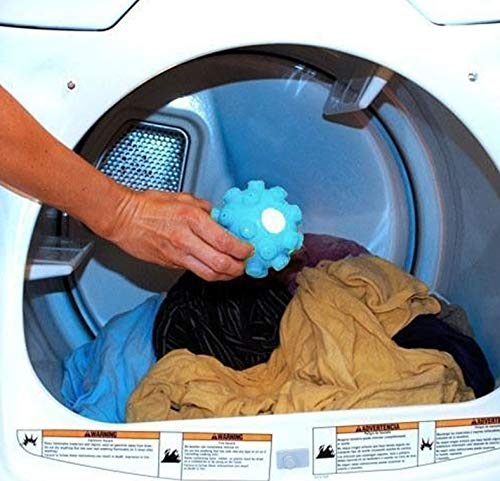 2Pcswrinkle Remover Releasing Dryer Balls Laundry Fabric Softening Ball Launder and Iron in One Time for Washing Machine