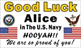 Alice Graphics 3ftX5ft Custom Personalized US Navy Going Away Goodbye Farewell Deployment Party Good Luck in The US Navy Banner (Seal and Anchor)