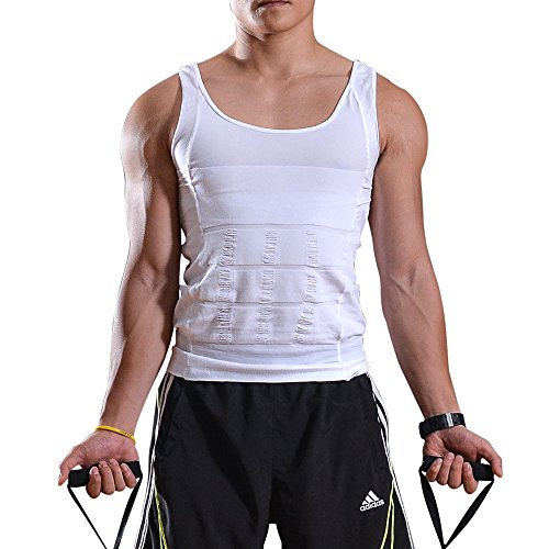 AGPtEK® Men Elastic Slimming body shaper Vest Shirt Lose Weight Underwears - L