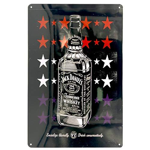 Ayiguri Retro Tin Sign Beer Creative Metal Vintage Wall Decor Art Plaque Souvenir Home Bar Cafe Bar 12 X 8 Inches (Jack Daniel's 02)