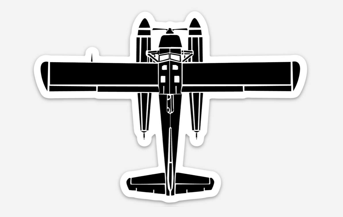 de Havilland Canada DHC-2 Beaver Sea Plane Vinyl Sticker Illustration BellavanceInk