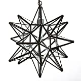 18 Inch Moravian Star Pendant Lights - Clear Glass