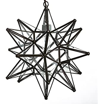 moravian star ceiling light flush mount small pendant fixture inch glass clear