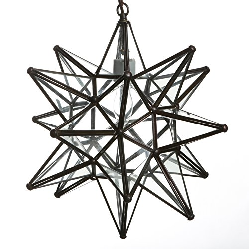 - Glass Star Pendant Lights (15 Inch, Clear)