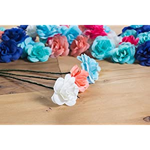 Juvale Artificial Flower Heads - 60-Pack Fabric Fake Flowers for Wedding Decorations, Baby Showers, DIY Crafts, Mixed Colors, 1.5 x 1.5 x 1.2 Inches 2