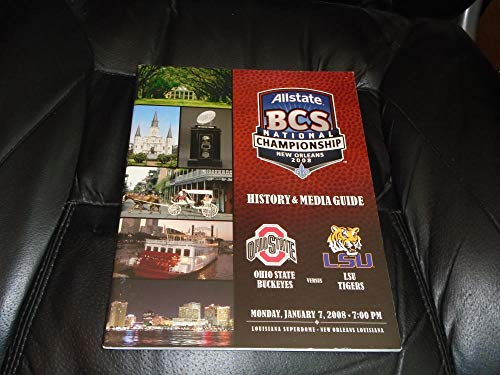 (2008 OHIO STATE VS LSU BCS NATIONAL CHAMPIONSHIP FOOTBALL MEDIA GUIDE NR MINT)