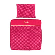 Corolle Mon Classique Cherry Blanket and Pillow Set