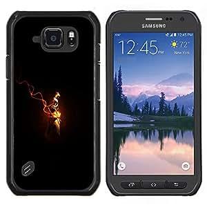 Qstar Arte & diseño plástico duro Fundas Cover Cubre Hard Case Cover para Samsung Galaxy S6Active Active G890A (Assassins Cred)