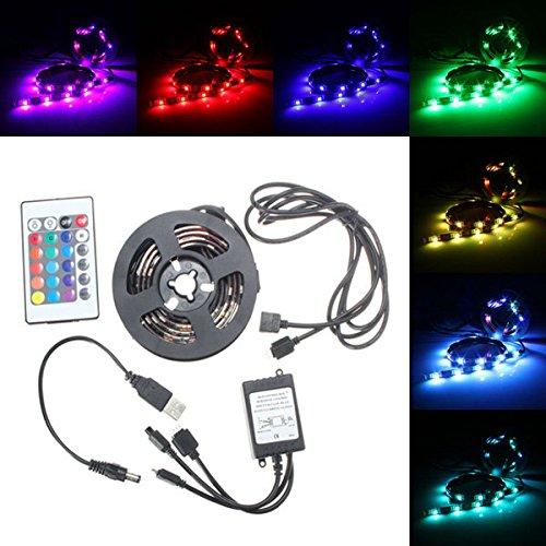 Joy Carpets Ribbons (USB Waterproof RGB 5050 LED Strip Light Ribbon Lamp Controller PC TV Cable Tab D)