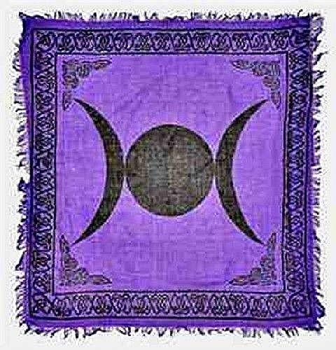 - Triple Moon in Purple Altar Cloth 36 inch x 36 inch
