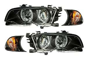 BMW 328Ci Black LED Halo Projector Headlights - Fits: Base Coupe 2-Door