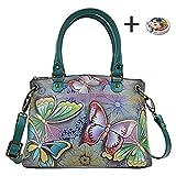 Anna By Anuschka Satchel Handbag & Purse Holder (Medium Butterfly Paradise)